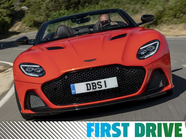 L'Aston Martin DBS Superleggera Volante est un cabriolet à 200 km / h avec deux personnalités distinctes