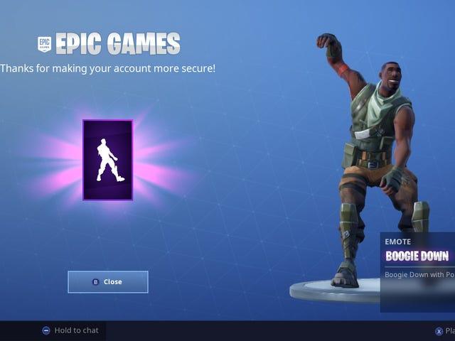 Epic Games har en ide som er ideell når det gjelder jugadores protejan sus cuentas: recompensarlos