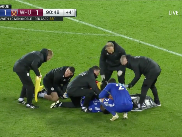 Leicester City's Daniel Amartey Stretchered Off After Horrific Leg Injury [WARNING: GRAPHIC]