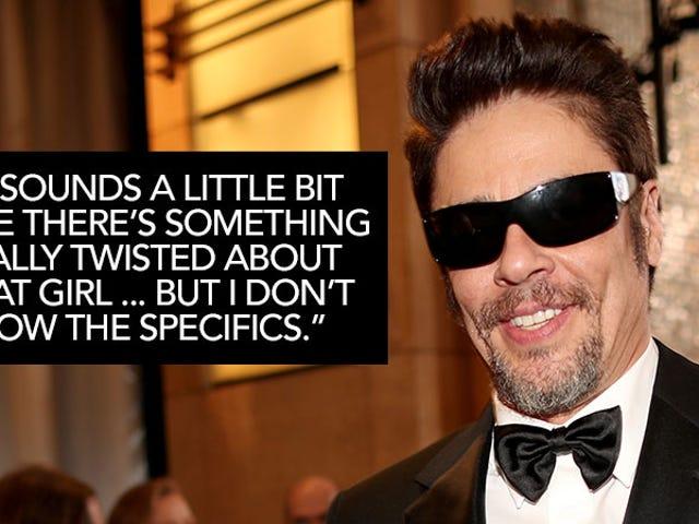 Benicio Del Toro vio que Johnny Depp y Amber no escucharon hace mucho tiempo y ¡parecían estar bien!