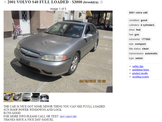 Idiota, to nie Volvo.