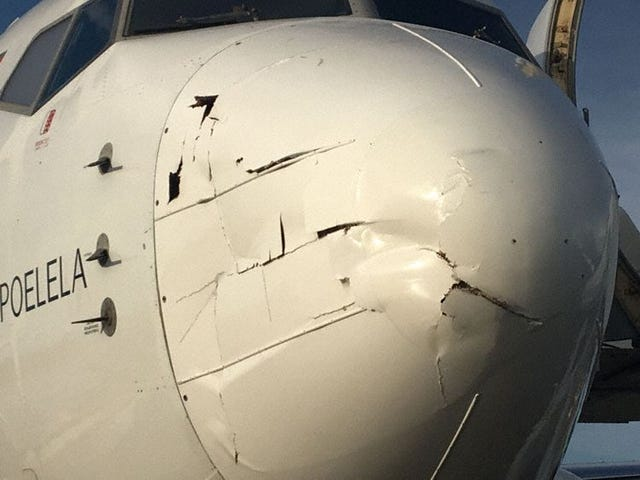 Drone Collides Med 737 i Mozambique