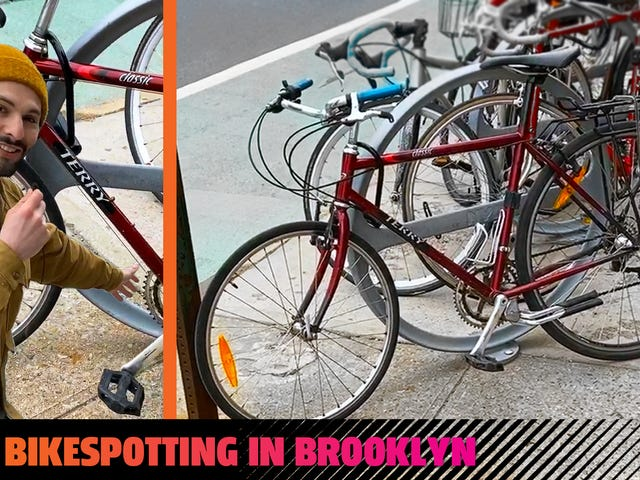 Laten we eens kijken naar enkele echte New York City-auto's: deze oude fietsen