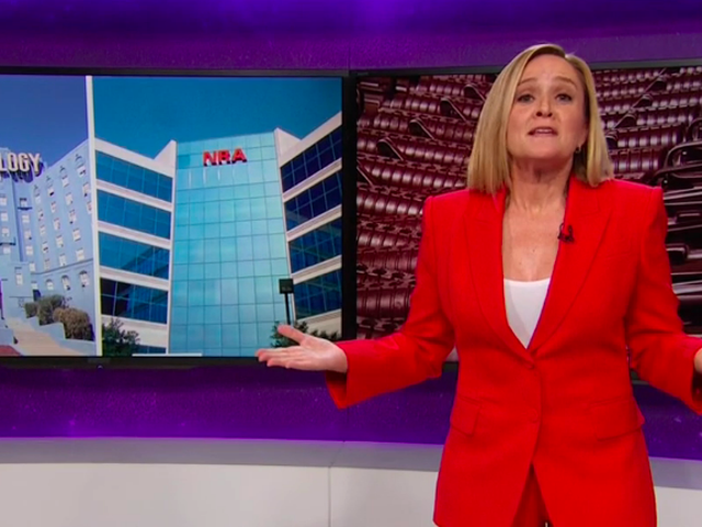 On Full Frontal, Sam Bee has a modest proposal for NRA members: Scientology