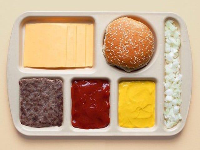 Billeder viser populær mad dekonstrueret pænt