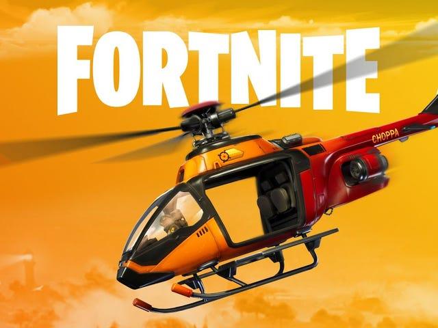 Fortnite'ın 12.20 güncellemesi bir helikopter, Pleasant Park ve Oil Rig'de değişiklikler ve addit getiriyor