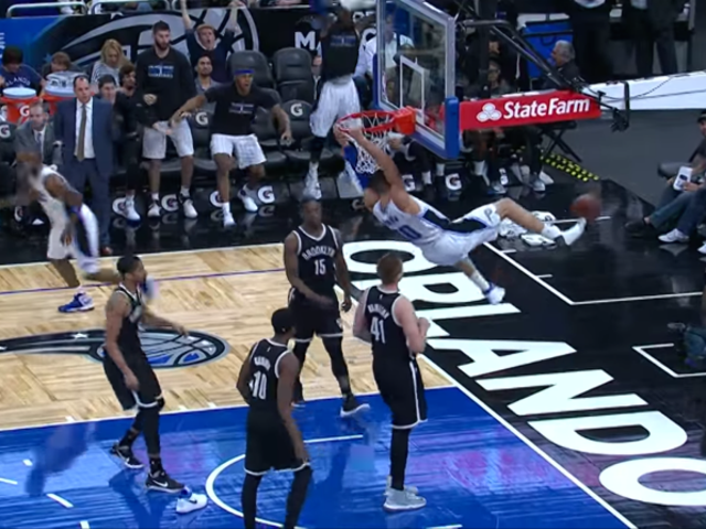 Aaron Gordon Jumps Out Of His Shoe For Beautiful Dunk