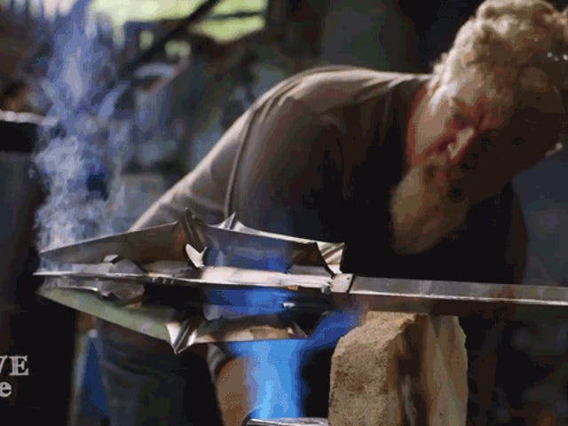 Just a Couple Dudes Building Sauron's Mace From Lord of the Rings