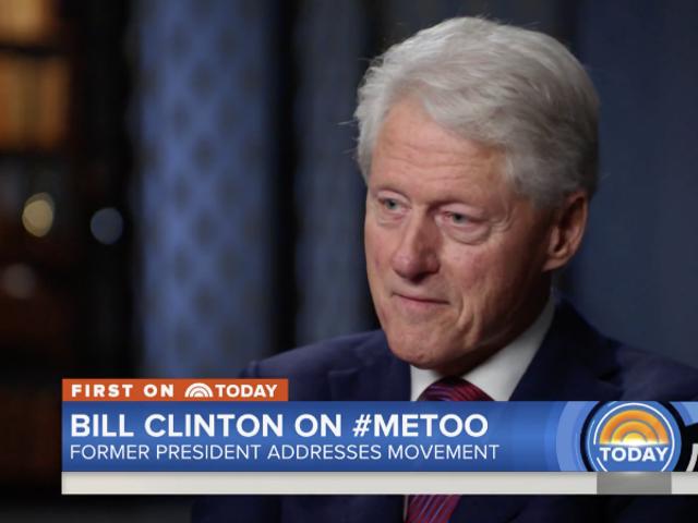 Bill Clinton ger totalt stycke skit Svar på fråga om #MeToo, Monica Lewinsky