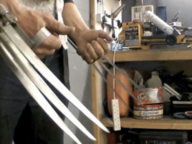 These fully-automatic Wolverine claws are as badass as the real ones