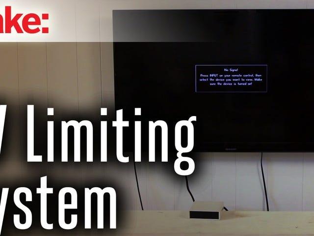 Il limitatore TV fai-da-te assicura che non stai guardando per troppo tempo