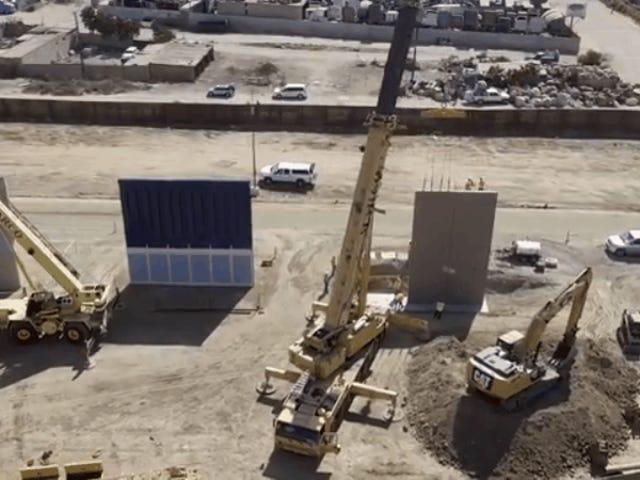 Το βίντεο Drone των πρωτοτύπων του τοίχου των συνόρων δείχνει τυχαία πόσο θα ήταν ανόητο το τείχος