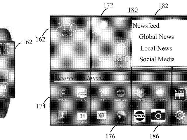 IBM патентів Smartwatch, що перетворює в гігантський незручний екран планшета на зап'ясті