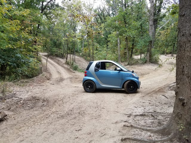 Finally took a smart for some legit offroading.
