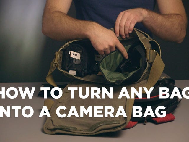 Safely Use Any Bag as a Camera Bag