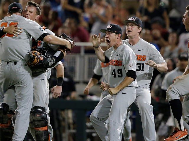 Oregon State Parlays Dropped Pop Fly Into Two-Out Ninth Inning Comeback In College World Series
