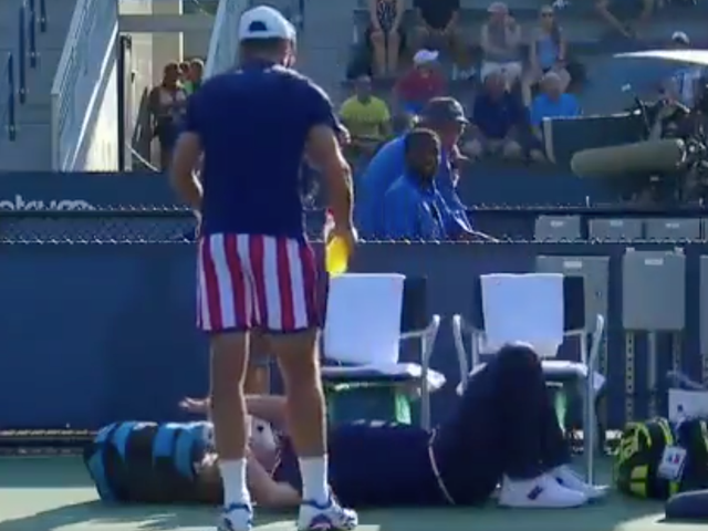U.S. Open Chair Umpire Betrayed By Arm Rest, Eats It