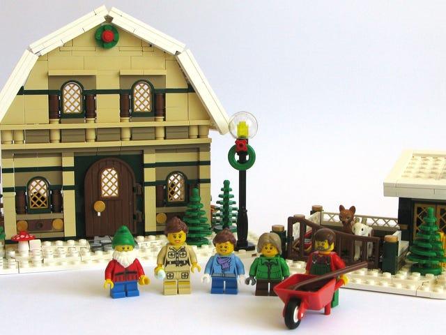 Detta Lego stallhus är det perfekta tillägget till vinterns by