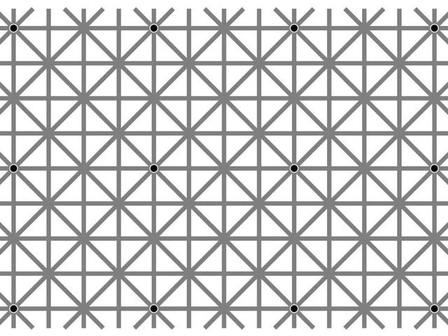 Can You See All 12 Black Dots At Once?