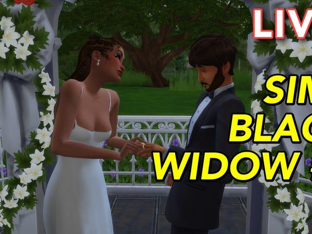 """Mig (Tim Rogers) og Gita (Jackson) streamer The Sims (4) """"Black Widow Challenge"""", hvor vores"""