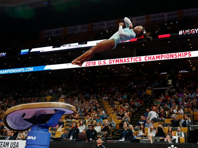 Simone Biles Swept All Five Titles At The National Championships
