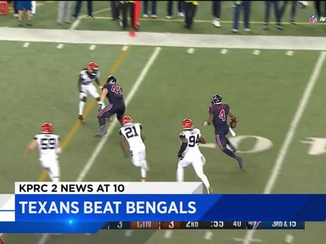 Houston NBC Station skærer Off slutningen af Texans Game for at rapportere resultatet af Texans Game