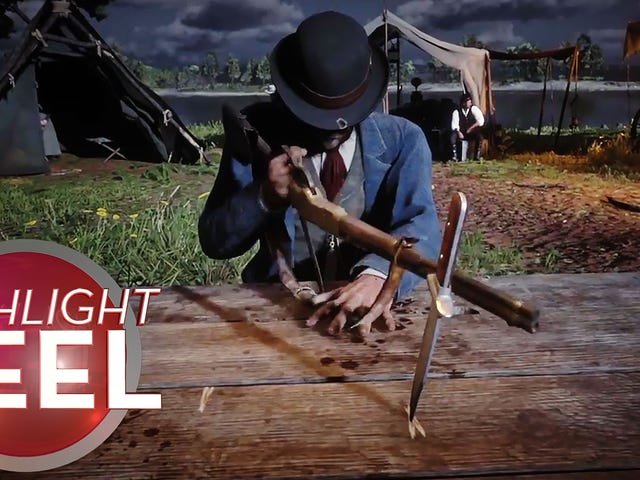 Red Dead Cowboy Brings Gun To Knife Game
