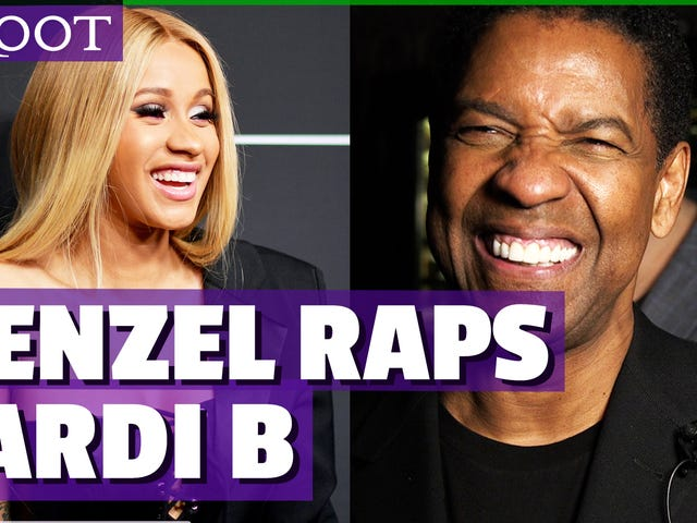 Watch: Denzel Washington Raps Hans Favorit Cardi B Song