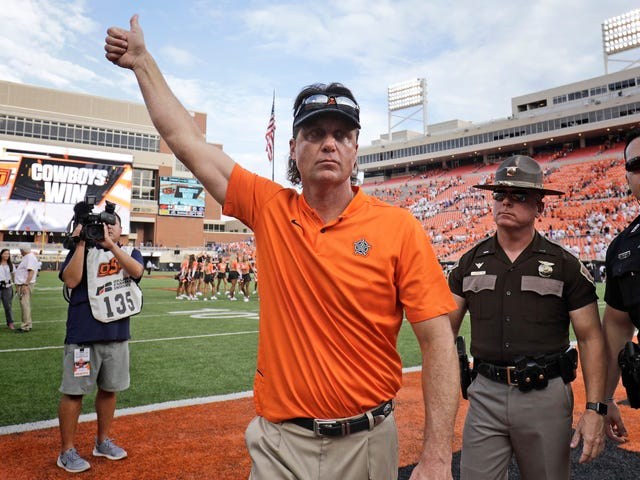 Mike Gundy's Weekly Phone Call With The Press Got Hacked And The Audio Is Wonderful