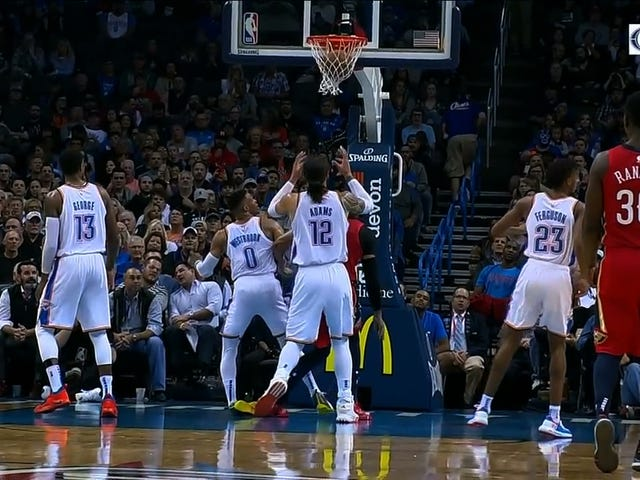 Somehow, Russell Westbrook's Ankle Did Not Instantly Turn To Crab Meat After This Fall