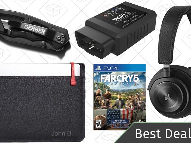 Friday's Best Deals: Laptop Sleeves, Wireless Headphones, Gerber Knives, and More