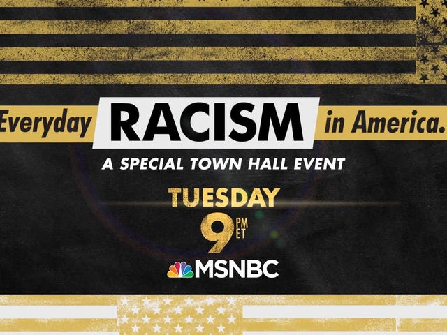 """Tonight's #EverydayRacism Town Hall Already Has Some Brand New Material, Including White Tears and """"Freeze Peach"""" Support: Open Thread"""