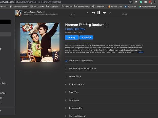 Apple Music er i din browser nu, fordi tjenester er konge