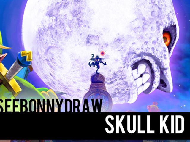 SeeBonnyDraw: Skull Kid!  En forme de peinture rapide!