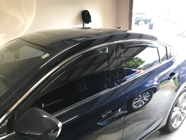 New vent visors installed today.