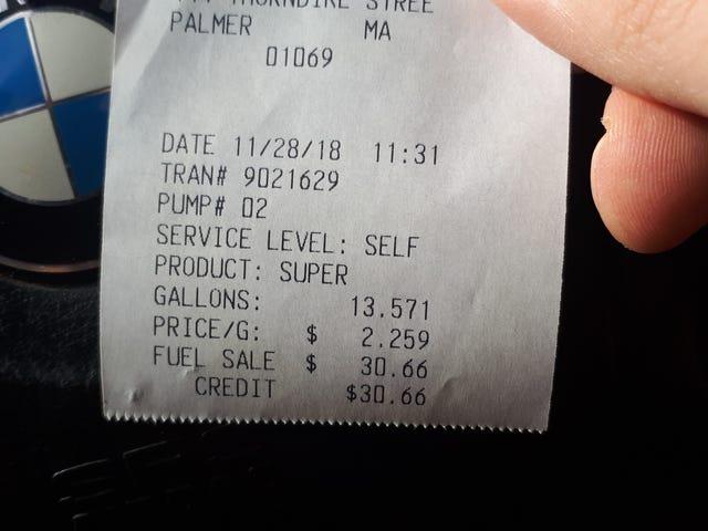 Premium for $2.25/gal