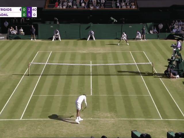 Nick Kyrgios Executes Perfect Underarm Serve Against Rafael Nadal