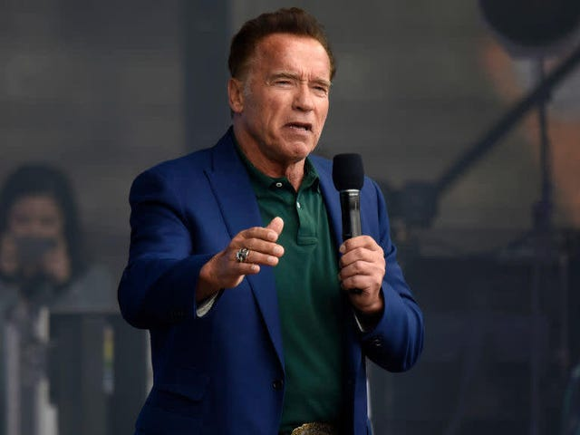 Today, friends, is the day you get to hear Arnold Schwarzenegger rap