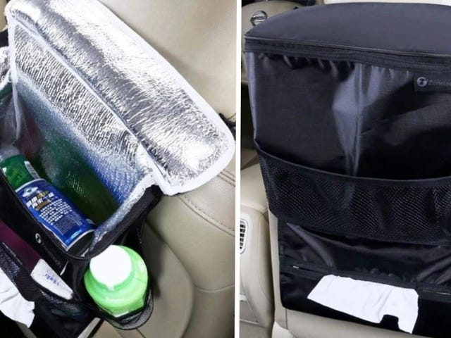 Keep Your Road Trip Snacks and Drinks In One Place With This 3-in-1 Car Organizer