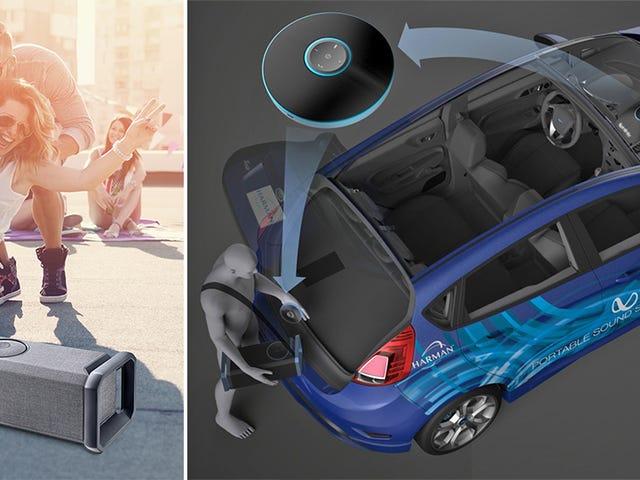 Harmans Voyager Drive-høyttalere lar deg ta bilens lydsystem med deg