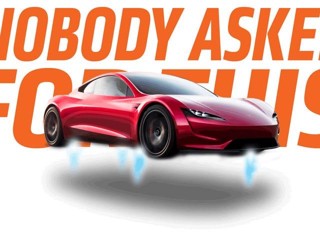 Elon Musk Tweets Again About Tesla Roadster<em></em>Rocket Engines But He's Going in a Weird Direction