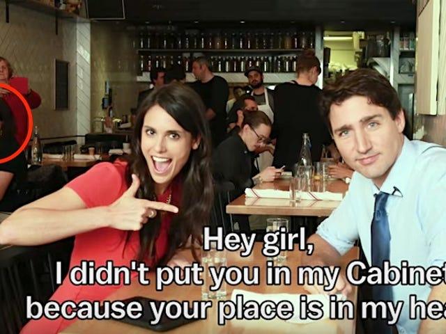 Justin Trudeau sta facendo innamorare ogni donna di questo caffè