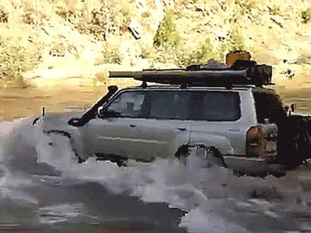 当你几乎不做它时,驾车穿过一条河是更令人兴奋的方式