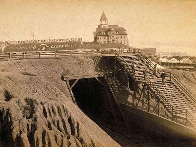 The Train Tunnel in This 1898 Film Is Now Part of Pacific Coast Highway
