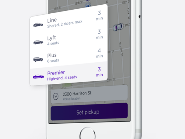 Lyft Releases an Option to Upgrade Your Ride
