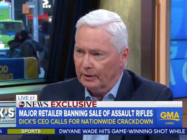 Dick's Sporting Goods Will Stop Selling Assault Rifles, Limit All Gun Sales to People Over 21