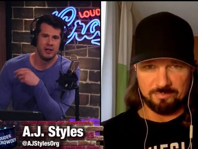A.J. Styles's Weird Right-Wing Web TV Appearance Went About As Well As Could Be Expected
