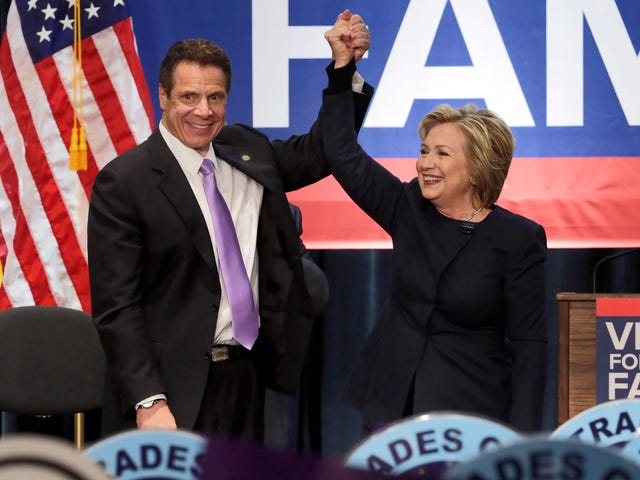 Hillary Clinton Endorses Andrew Cuomo for Governor, Which Means She Does Not Endorse Cynthia Nixon