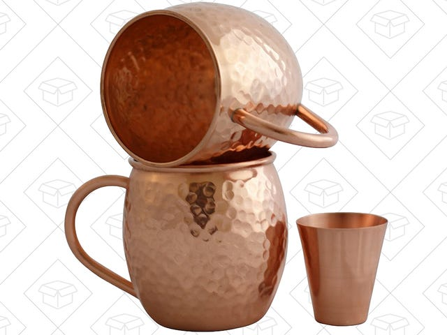 Kick Off Moscow Mule Season Early With a Pair of Discounted Copper Mugs
