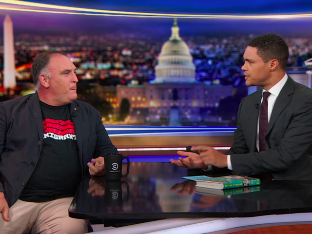 Chef José Andrés suggests Trump take leadership lessons from Puerto Rican kids on The Daily Show